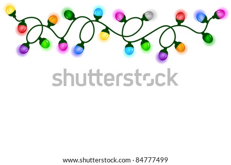Chain of lights - stock photo