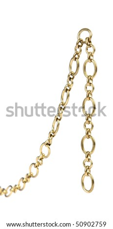 Chain on a white background.