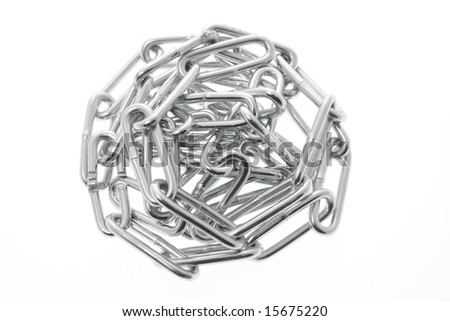 Chain on Isoalted White Background