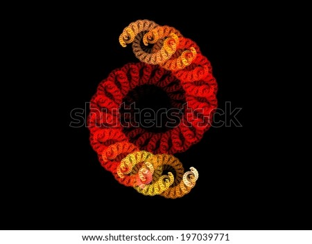 Chain spiral - stock photo