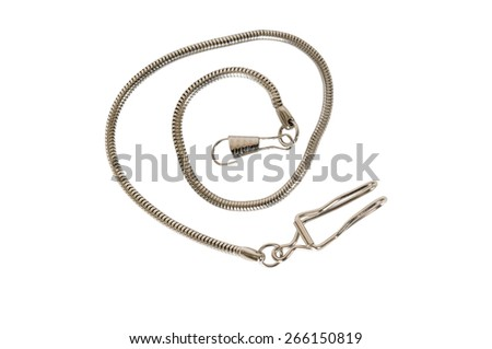 chain with the lock - stock photo