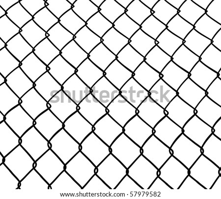 Chainlink fence. Seamless. White background. - stock photo