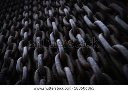 chains (detail of the Iron Curtain monument in Budapest)