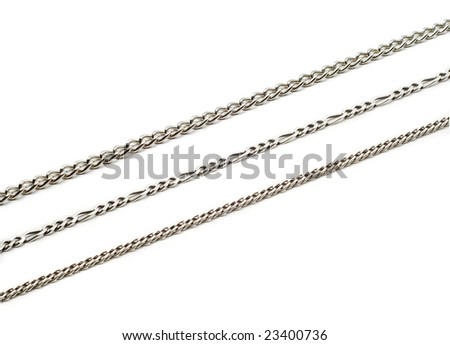 chains isolated - stock photo