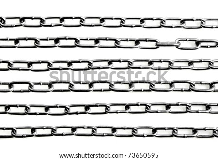 chains on white background - stock photo
