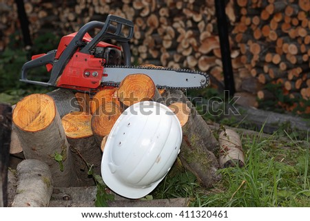 chainsaw tool - stock photo