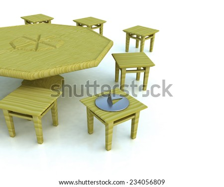 chair and a needle - stock photo