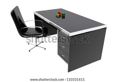 Chair and desk office - stock photo