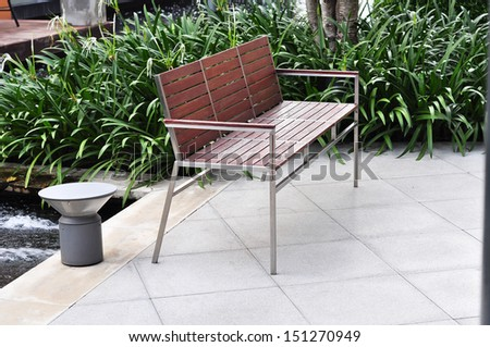 chair and plant decor - stock photo