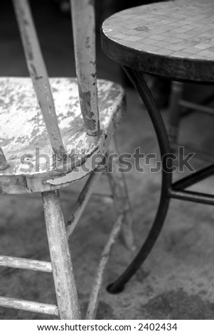 Chair and table - stock photo