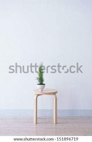 chair and vase - stock photo
