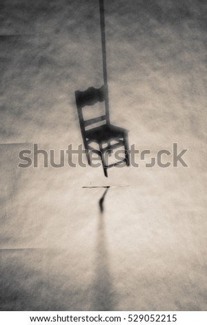 Chair art shadow background cover