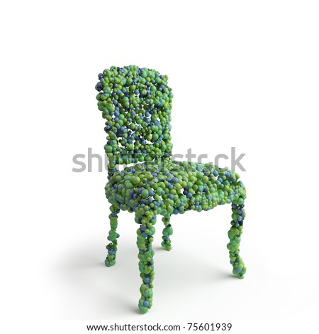 chair consisting of a many spheres - stock photo