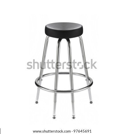chair for a bar on a white background - stock photo
