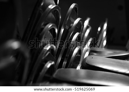 Chair for receptions in a gym image in black and white