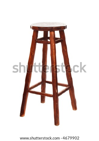 Chair from a bar. All visitors have left - stock photo
