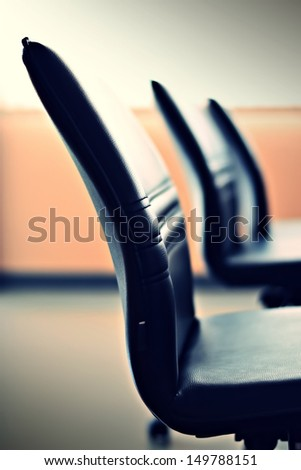 chair in meeting - stock photo