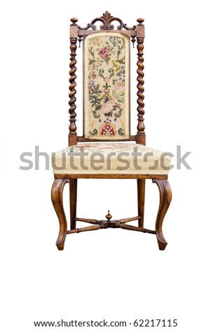 chair isolated on white - stock photo