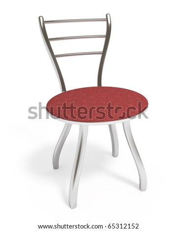 Chair, isolated on white, clipping path included, 3d illustration - stock photo