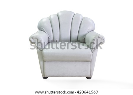 chair isolated white background,with clipping path - stock photo