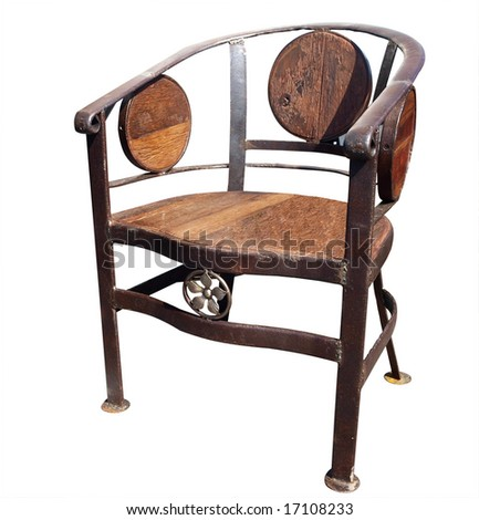 Chair isolated with clipping path - stock photo