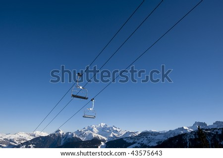 Chair lift, french Alps, Areches