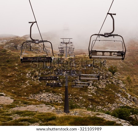 chair lift on italian mountain