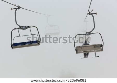 chair lifts in a ski resort