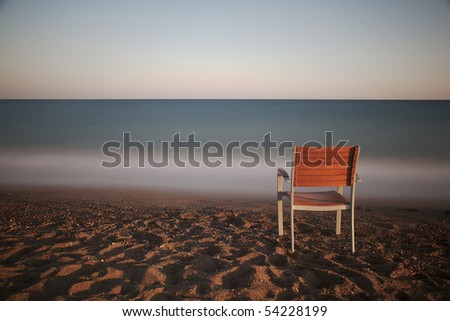 Chair (Long Exporsure) - stock photo