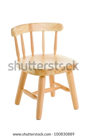 Chair made of natural wood for the children