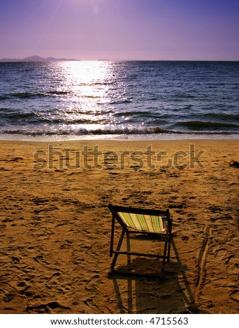 Chair on the beach in Thailand.