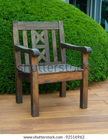 chair on the deck - stock photo