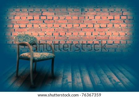 Chair on the vintage stage - stock photo