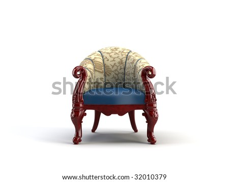 chair on the white background