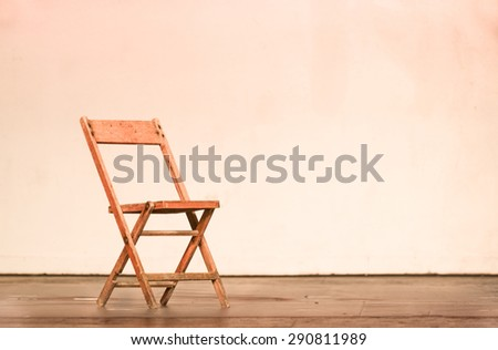 chair on theatre stage - stock photo