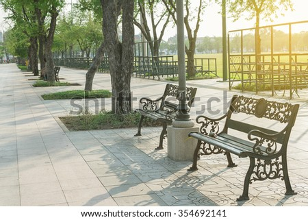 Chair parks. - stock photo