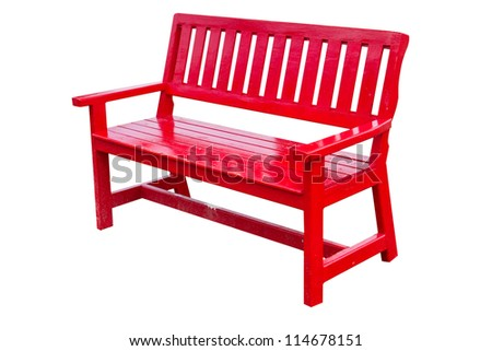 Chair red classic on white - stock photo