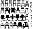 Chair Set Black - stock photo