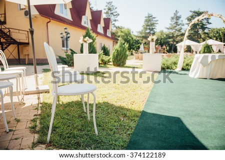 chair set for wedding or another catered event or visiting ceremony