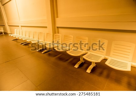 Chair waiting,Airport lounge - stock photo