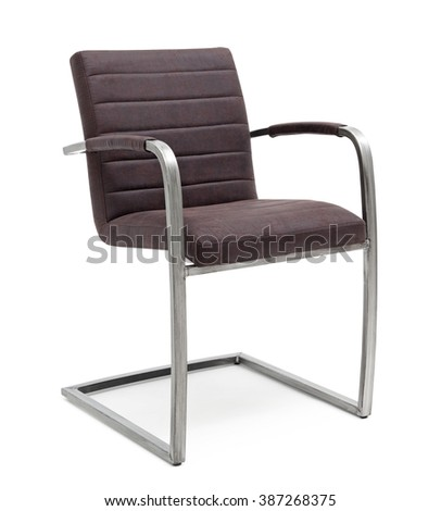 Chair with Metal Legs - stock photo