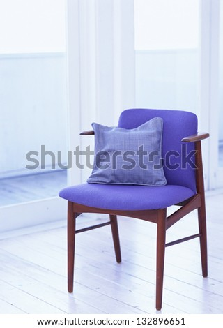 chair with pillow - stock photo