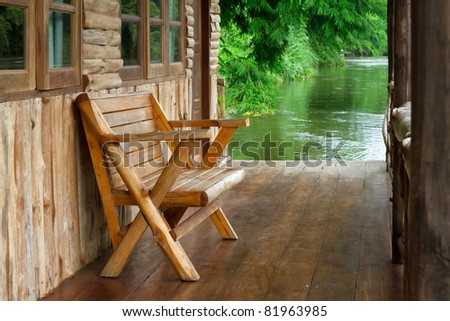 Chair wood - stock photo