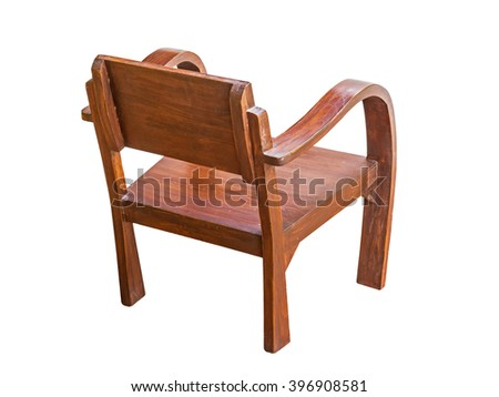 Chair wood isolate on white background
