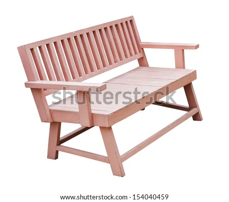 Chair wood isolated