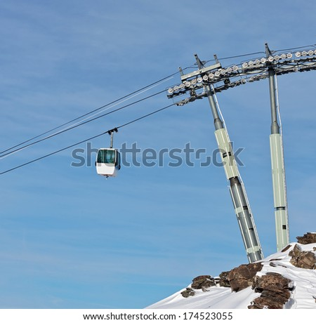 Chairlift in Les Deux Alps -  France - stock photo