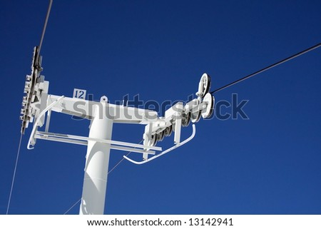Chairlift Pole - stock photo
