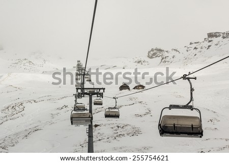 Chairlifts of austrian Alps