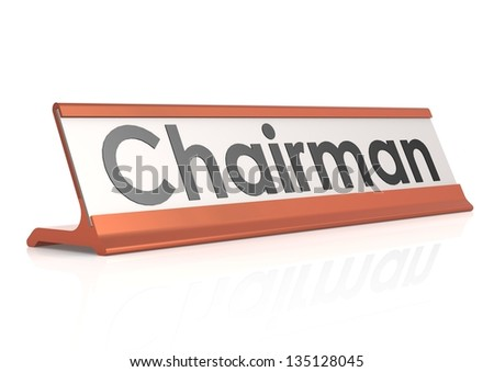 Chairman table tag - stock photo