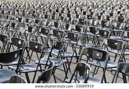 Chairs after a celebratory concert
